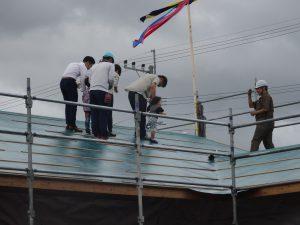 新築鹿児島の住宅で上棟式