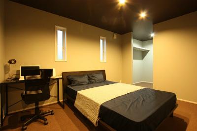 広い寝室の鹿児島のモデルハウス
