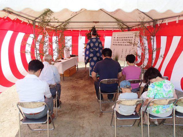 鹿児島の新築工事の地鎮祭開催